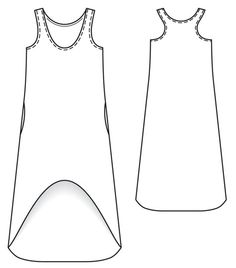 SO CUTE, quick sew jersey dress pattern from BurdaStyle. Love the high/low hem and racer back details.