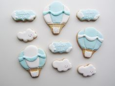 1st Birthday Hot Air Balloon Cookies by Lille Kage Hus