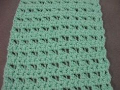 Butterfly Stitch Scarf or Blanket - Left Handed Crochet Tutorial - YouTube