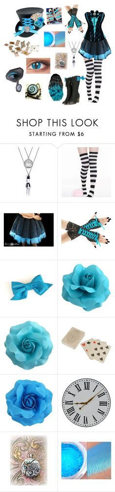 """Steampunk Alice/Mad Hatter inspired outfit"" by rosethorndyke2000 ❤ liked on Polyvore featuring Dot & Bo"