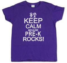 7474a1a3 Keep Calm Because Pre-KRocks Teacher Shirts, School Shirts, Work Shirts,  Teacher
