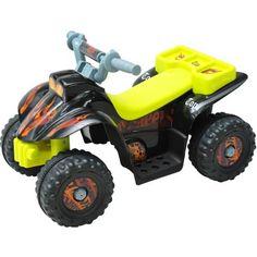 Quad Bateria 65x43x43cm 6V 2'5 km/h Moto Eléctrica 4 Ruedas Niños 2 Años Max20Kg