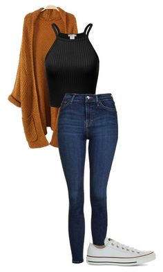 """Untitled #485"" by cuteskyiscute ❤️ liked on Polyvore featuring Topshop and Converse"