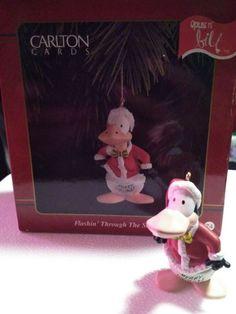 OPUS n' Bill 1995 Flashin' Through The Snow Carlton Cards Christmas Ornament 74 #CarltonCards