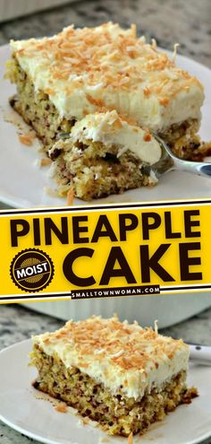 13 reviews · 55 minutes · Vegetarian · Serves 24 · Pineapple Cake with Cream Cheese Frosting is the perfect Mother's Day dessert for your celebration. Its coconut topping even adds to the summer feels. Whip up this refreshing summer dessert! Pineapple Desserts, Pineapple Cake, Pineapple Recipes, Mothers Day Desserts, Summer Desserts, Summer Recipes, Cake With Cream Cheese, Cream Cheese Frosting, Dessert Dishes