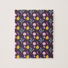Cute botanic pattern leaves jigsaw puzzle - spring gifts beautiful diy spring time new year