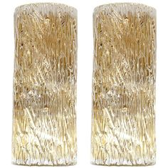 1stdibs | Set of Four Modernist Textured Murano Glass Sconces by Venini