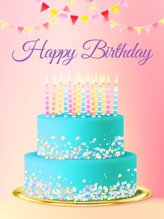 Send Free Chic Birthday Cake Card to Loved Ones on Birthday & Greeting Cards by Davia. It's free, and you also can use your own customized birthday calendar and birthday reminders. Birthday Cake Greetings, Happy Birthday Greetings Friends, Birthday Wishes For Kids, Happy Birthday Wishes Images, Happy Birthday Celebration, Birthday Cake Card, Happy Birthday Pictures, Birthday Blessings, Happy 2nd Birthday