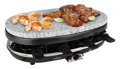 NutriChef Raclette Grill , 8 Person Party Cooktop, Stone Plate Metal Grills 1000 Watt (PKGRST46) *** Want to know more, click on the image.