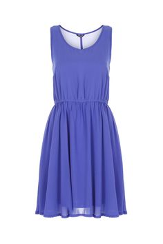 Pleated Skirt Blue Tank Dress. the possibilities of accessorizing.