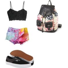 A fashion look from December 2014 featuring MANGO tops, Levi's shorts and Vans sneakers. Browse and shop related looks.