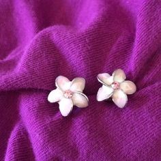 Earrings Vintage pink flower earrings. Dainty and distinctive these earrings are the perfect accessory for a spring sundress or Sunday brunch! Offers Welcome! Jewelry Earrings