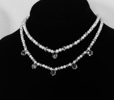 Beautiful necklaces made from freshwater pearls and Swarovski crystals.  $185 each. We give generous discount, if bought together.  Contact us for more info and availability at: www.alterationsavenue.com