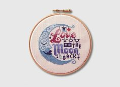Love you to the Moon and Back - Cross Stitch Pattern (Digital Format - PDF) from Stitchrovia on Etsy--must get this!
