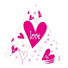 Happy Valentine paper hat, 6 inch!