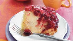 Upside-down cake has never been easier. Simply stir together light brown sugar, melted butter, and a can of whole-berry cranberry sauce. Pour into a greased, 5-quart slow cooker. Top with a package of fresh cranberries. A package of pound cake mix is the secret convenience ingredient in this simple cake. Beat the mix along with milk, eggs, and almond extract with an electric mixer on low for two minutes. Pour the batter over the cranberry mixture already in the slow cooker. Cook on HIGH for…