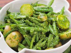 Michael Natkin's Potato and Green Bean Salad with Arugula Pesto | Serious Eats : Recipes