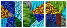 Tempo azul - glass mosaic                                                  anaposada.mosaico                                                                          Colombia