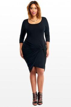 Plus Size Maria Knot Dress | Fashion To Figure