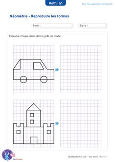 Symmetry Worksheets, Tracing Worksheets, Preschool Worksheets, Math Resources, Math For Kids, Puzzles For Kids, Maternelle Grande Section, Visual Perception Activities, Free Printable Puzzles