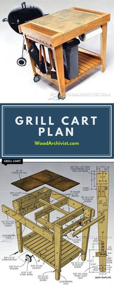 Grill Cart Plans - Outdoor Furniture Plans and Projects | WoodArchivist.com
