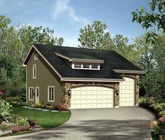 Cabin Cottage Country Craftsman Garage Plan 95827