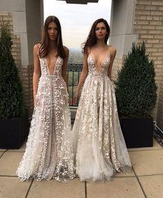 Sexy Party Dress , A-Line V-Neck Appliques Long Prom Dress,Ivory Wedding Dress lace prom dresses W5276