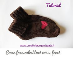 Come fare calzettoni con 2 ferri Tutorial in italiano