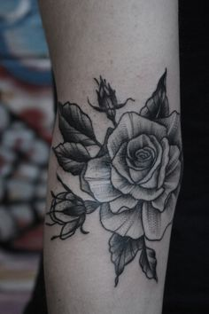 inner bicep rose tattoo - Google Search