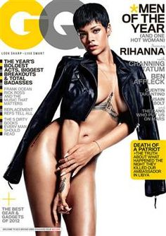 Rihanna bares nearly all on GQ's 'Men of the Year' issue cover - TODAY Entertainment# Plz Rt