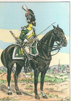 SOLDIERS- Boissilier: NAP- France: French; 19th Dragoons, Sapper, 1808, by Henri Boissilier.