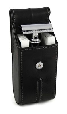 Edwin Jagger Hand Stitched Leather Travel Case for Safety Razor