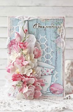 shabby chic cards #teaparty
