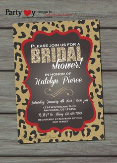 Leopard print bridal shower invitation new print bachelorette leopard bridal shower invitation chalkboard by partyinvitesandmore 1000 filmwisefo Image collections