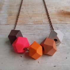 Caramel Geo Pop necklace