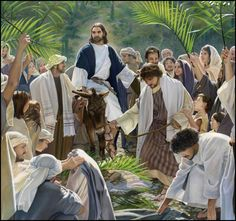 """""""The next day the large crowd that had come to the festival heard that Jesus was coming to Jerusalem. So they took branches of palm trees and went out to meet him, and they began to shout: """"Save, we pray you! Blessed is the one who comes in Jehovah's name, the King of Israel!""""  John 12:12,13"""