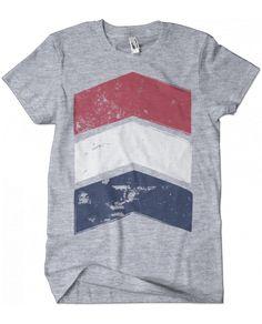 Evoke Apparel - Chevron Patriotic T-shirt, $25.00 (http://www.evokeapparelcompany.com/chevron-patriotic-t-shirt/)