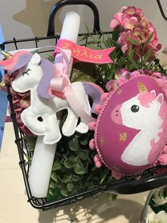 Easter  unicorn gift set-Easter candle and Easter egg!Handmade by Cotton Prince cottonprince.gr