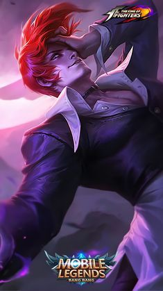 Wallpaper Chou Iori Yagami Skin Mobile Legends Full HD for Android and iOS Joker Iphone Wallpaper, Phone Wallpaper For Men, Phone Wallpaper Design, Hero Wallpaper, Bruno Mobile Legends, Miya Mobile Legends, Hd Wallpapers For Mobile, Gaming Wallpapers, Snk King Of Fighters