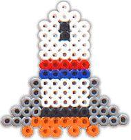 Rocket - perler beads http://mistertrufa.net/librecreacion/culturarte/?p=12