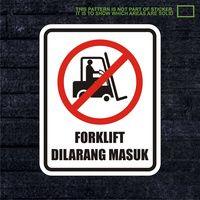 WSKPC186 Sticker K3 Safety Sign Warning Sign Forkl