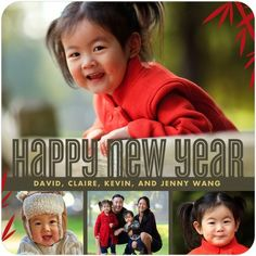 Happy Bamboo - Chinese New Year Cards - Hello Little One - Dijon Yellow