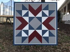 Wyoming Valley pattern x - different colors/pattern Barn Quilt Designs, Barn Quilt Patterns, Quilting Designs, Amish Barns, Painted Barn Quilts, Farm Quilt, Barn Art, Star Quilt Blocks, Blue Quilts