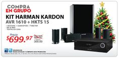 Kit Harman Kardom Avr 1610 + HKTS 15 llévatelo al precio de US$699.97. www.multimax.net