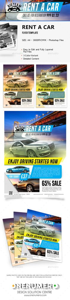 Dark colored car for sale flyers - Multicolor template - 3 rows - car for sale flyer template