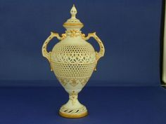 Royal Worcester vase and cover by George Owen