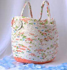 Peach Moses Basket Handmade Gift Basket by WexfordTreasures