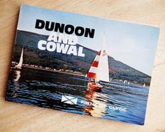 DUNOON and COWAL 1950s / 1960s Holiday Brochure Booklet with PULL OUT COLOUR MAP