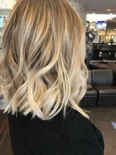 Blonde blonde balayage balayage hair Lob hair