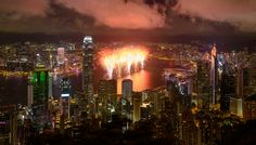 Tonights Chinese New Year fireworks display in Victoria Harbour will start at 8pm and over the course of 23 minutes 23,888 fireworks will be launched! Yes those are lucky numbers! If you'd like some music to go with the firework extravaganza you can tune into RTHK4 (FM 97.6 to 98.9). If you can read Chinese characters look out for the symbol for 'Spring' in the first part of the display and 'Goat' in the second. Thank you to David W for the wonderful picture!